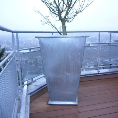 Extension ossature bois de 25 m² et bardage en zinc naturel prépatiné.